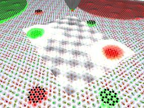 Molekulare Magnete in einem Gitter aus Skyrmionen