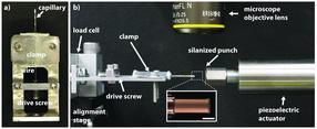 Measuring strain on micropillar