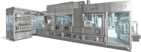 GRUNWALD-FOODLINER 20.000 UC (ultraclean) Längsläufer-Becherfüller mit neuem Ultraclean-Hygienekonzept für die Molkereiindustrie