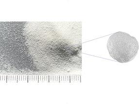 Koffeingranulate (lose) mit Fett beschichtet – Einzelnes Koffeingranulat mit einer Partikelgröße 200 - 400 µm